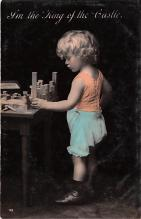 pht200081 - People and Children Photographed on Postcard, Old Vintage Antique Post Card