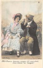 pht200095 - People and Children Photographed on Postcard, Old Vintage Antique Post Card