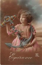 pht200102 - People and Children Photographed on Postcard, Old Vintage Antique Post Card