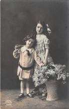 pht200120 - People and Children Photographed on Postcard, Old Vintage Antique Post Card