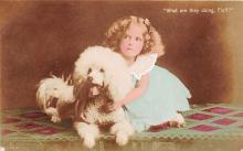 pht200136 - People and Children Photographed on Postcard, Old Vintage Antique Post Card