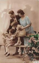 pht200143 - People and Children Photographed on Postcard, Old Vintage Antique Post Card
