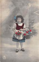 pht200153 - People and Children Photographed on Postcard, Old Vintage Antique Post Card