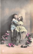 pht200182 - People and Children Photographed on Postcard, Old Vintage Antique Post Card