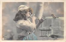 pht200259 - People and Children Photographed on Postcard, Old Vintage Antique Post Card
