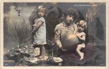 pht200263 - People and Children Photographed on Postcard, Old Vintage Antique Post Card