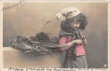 pht200325 - People and Children Photographed on Postcard, Old Vintage Antique Post Card