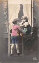 pht200347 - People and Children Photographed on Postcard, Old Vintage Antique Post Card