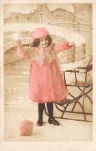 pht200367 - People and Children Photographed on Postcard, Old Vintage Antique Post Card