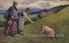 pig001004 - Pig, Pigs, Postcard Postcards