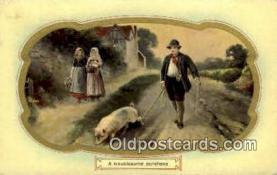 pig001006 - Pig, Pigs, Postcard Postcards