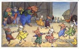 pig001012 - Artist Molly Brett, Pig, Pigs, Postcard Postcards