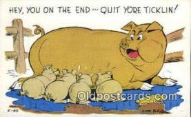 pig001016 - Pig, Pigs, Postcard Postcards