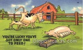 pig001026 - Pig, Pigs, Postcard Postcards