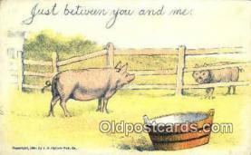 pig001027 - Pig, Pigs, Postcard Postcards