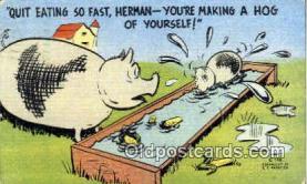 pig001034 - Pig, Pigs, Postcard Postcards