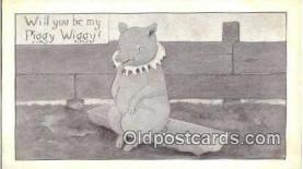 pig001039 - Pig, Pigs, Postcard Postcards