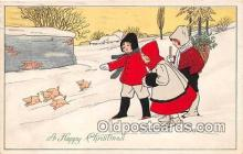 pig001055 - Happy Christmas  Postcards Post Cards Old Vintage Antique