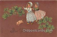 pig001065 - Best Wishes  Postcards Post Cards Old Vintage Antique
