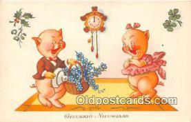 pig001075 - Gelukkig Nieuwjaar  Postcards Post Cards Old Vintage Antique