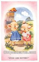 pig001103 - D'You Like Butter  Postcards Post Cards Old Vintage Antique