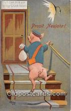pig001107 - Prosit Neujahr  Postcards Post Cards Old Vintage Antique