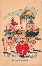 pig001114 - Bonne Annee  Postcards Post Cards Old Vintage Antique