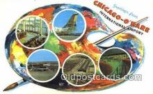 pnt001022 - Chicago O'Hare Airport, Ill USA Art, Artist, Paint Palettes & Easels Postcard Postcards