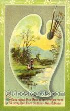pnt001036 - Art, Artist, Paint Palettes & Easels Postcard Postcards