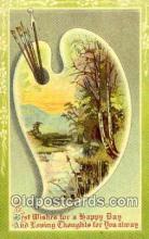 pnt001038 - Art, Artist, Paint Palettes & Easels Postcard Postcards