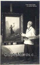 pnt001044 - Prof Hans Dahl Art, Artist, Paint Palettes & Easels Postcard Postcards
