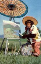 pnt001049 - Art, Artist, Paint Palettes & Easels Postcard Postcards