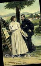 pnt001050 - Art, Artist, Paint Palettes & Easels Postcard Postcards