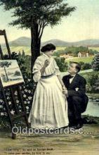 pnt001051 - Art, Artist, Paint Palettes & Easels Postcard Postcards
