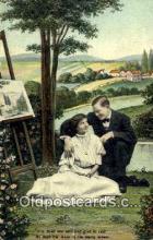 pnt001052 - Art, Artist, Paint Palettes & Easels Postcard Postcards