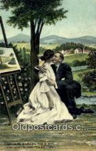 pnt001053 - Art, Artist, Paint Palettes & Easels Postcard Postcards