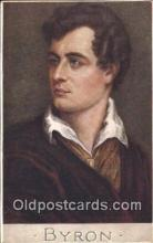 poe001006 - Artist C.W. Quinnell, Byron Author & Poets Postcard Postcards