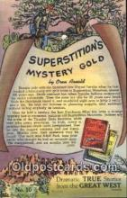 poe001009 - Superstiton's Mystery Gold Author & Poets Postcard Postcards