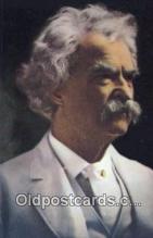 poe001013 - Mark Twain Author & Poets Postcard Postcards
