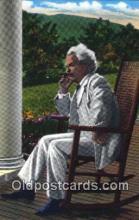 poe001015 - Mark Twain Author & Poets Postcard Postcards