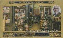 poe001025 - Lovers Lane, Saint Jo. Author & Poets Postcard Postcards