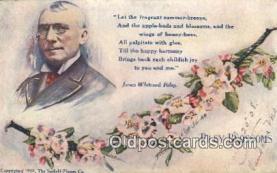 poe001035 - James Whitcomb Riley Author & Poets Postcard Postcards