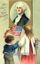 pol001006 - Artist Ellen Clapsaddle, George Washington 1st USA President Postcard Postcards