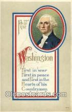 pol001058 - United States first President George Washington Postcard Postcards