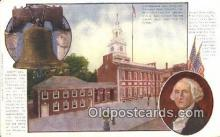 pol001083 - Liberty Bell George Washington 1st USA President Postcard Postcards