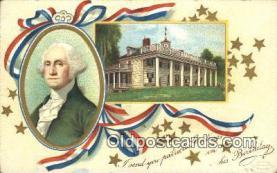 pol001086 - Ellen H. Clapsadale George Washington 1st USA President Postcard Postcards