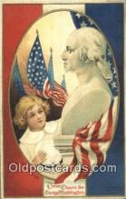pol001101 - Ellen H. Clapsadale George Washington 1st USA President Postcard Postcards