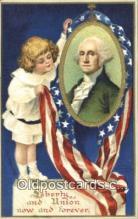 pol001102 - Ellen H. Clapsadale George Washington 1st USA President Postcard Postcards