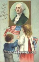 pol001107 - Artist Clapsaddle, George Washington, 1st President USA, Political, Old Vintage Antique Postcard Post Card