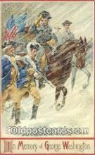 pol001109 - Artist Veenfliet, George Washington, 1st President USA, Political, Old Vintage Antique Postcard Post Card